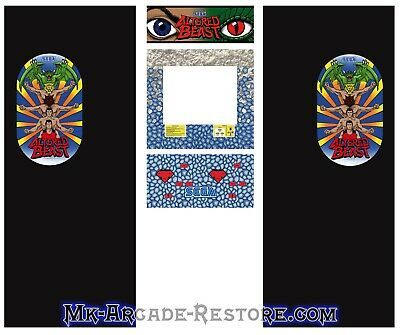 Altered Beast Side Art Arcade Cabinet Artwork Graphics Decals Full Set