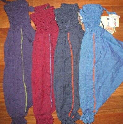 BN CHILDS UNISEX AFGAN HAREM HIPPY TROUSERS VARIOUS COLOURS / SIZE small AGE 2+