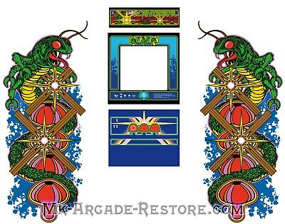 Centipede Side Art Arcade Cabinet Artwork Graphics Decals Full Set
