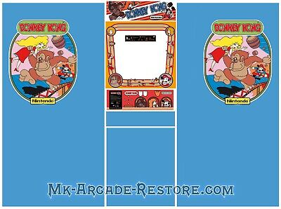Donkey Kong Side Art Arcade Cabinet Artwork Graphics Decals Full Set