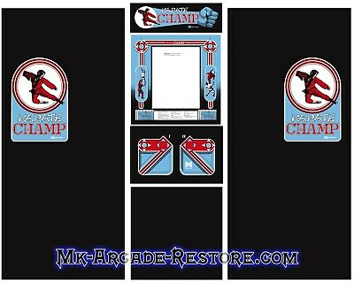 Karate Champ Side Art Arcade Cabinet Artwork Graphics Decals Full Set