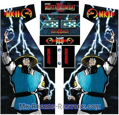 Mortal Kombat 2 Side Art Arcade Cabinet Artwork Graphics Decals Full Set MK2