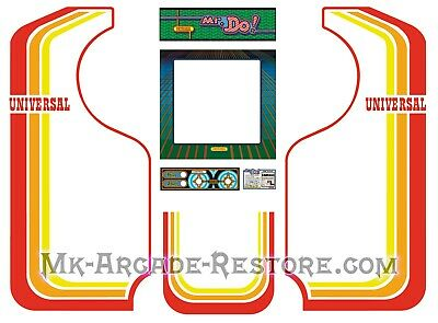 Mr.Do Side Art Arcade Cabinet Artwork Graphics Decals Full Set