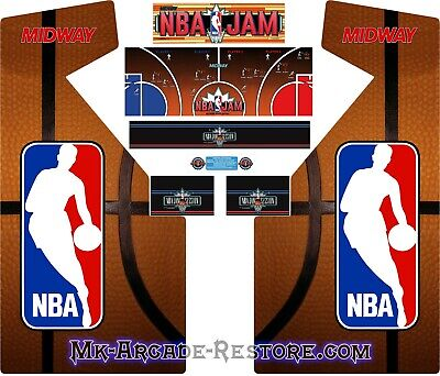 Nba Jam Side Art Arcade Cabinet Artwork Graphics Decals Full Set