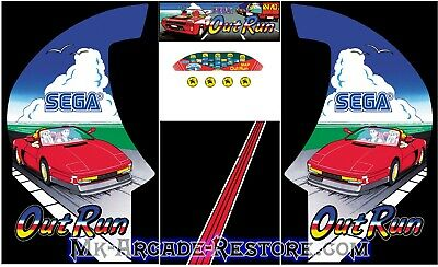 Outrun Side Art Arcade Cabinet Artwork Graphics Decals Full Set