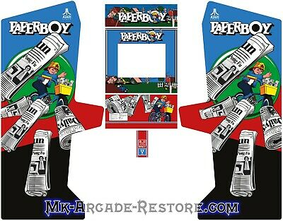 Paperboy Side Art Arcade Cabinet Artwork Graphics Decals Full Set