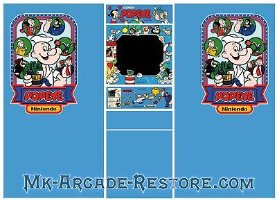 Popeye Side Art Arcade Cabinet Artwork Graphics Decals Full Set
