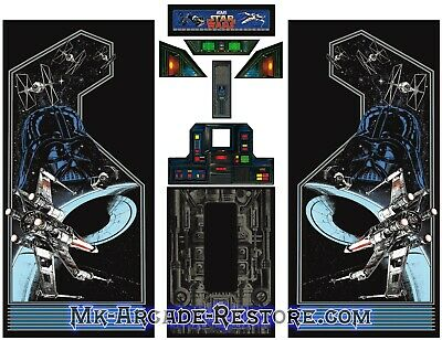 Star Wars Side Art Arcade Cabinet Artwork Graphics Decals Full Set
