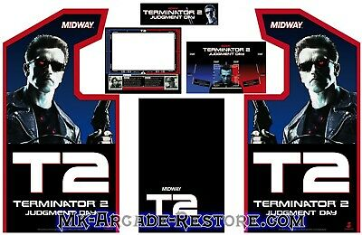 Terminator 2 Side Art Arcade Cabinet Artwork Graphics Decals Full Set T2