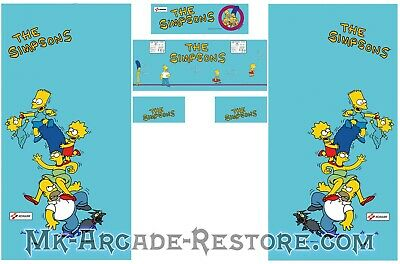 The Simpsons Side Art Arcade Cabinet Artwork Graphics Decals Full Set