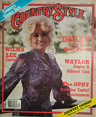 Country Style Music Vtg Magazine June 1977 - Dolly Parton Cover - No Label VG