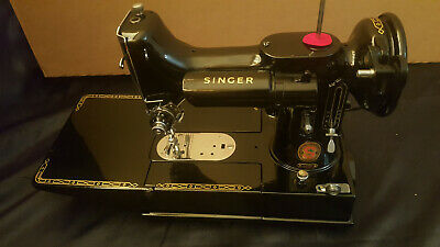 Singer sewing machine 222k Red S Featherweight serviced