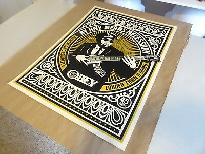 2007 OBEY SHEPARD FAIREY By any means necessary PRINT PASTER POSTER 18X24 1