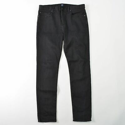 GAP Denim Black Skinny Jeans Stretch Mens 34X32