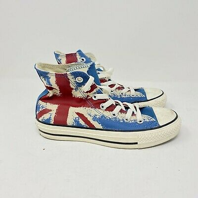 Converse All Star Chuck Taylor The Who Union Jack Canvas Hi Top Sneakers M 4 W 6