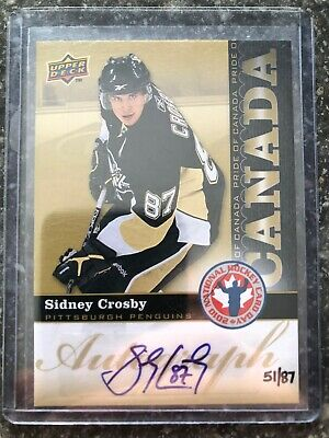 2010 Ud National Hockey Card Day Sidney Crosby Auto 51/87 Card # Hcd-Sc