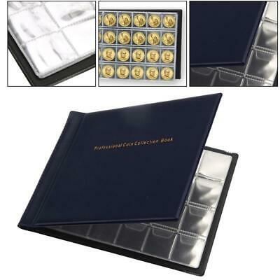 240 Coins Holder Collection Storage Album Money Penny Book Collecting Pockets AU