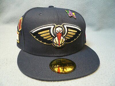 New Orleans Pelicans Navy Gold White Red NOLA NBA New Era 59Fifty Fitted Hat Cap