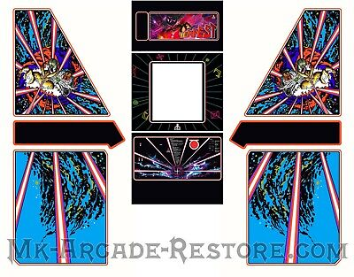 Tempest Side Art Arcade Cabinet Artwork Graphics Decals Full Set
