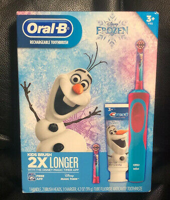 Disney Frozen Elsa Olaf Oral-B Braun Rechargeable Toothbrush brand new sealed