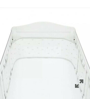 Mothercare Little lamb Mesh Breathable Cot Cotbed Bumper New RRP £22