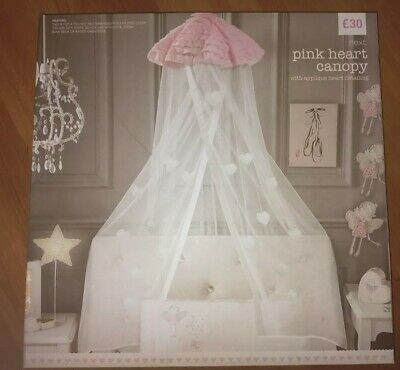 Next Pink Heart Canopy- Brand new and boxed. RRP£30