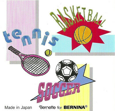 SPORTS #13 Embroidery Memory Card - Bern. Deco Brother Baby Lock Simplicity .pes