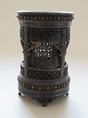 Antique Chinese Carved Bamboo Wood Pierced Brush Pot 18Th/19Th Century Qing - Nr