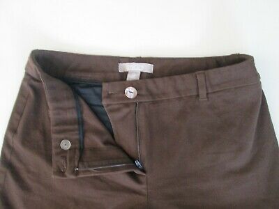 Womens CHICOS Brown Dress Pants Stretch Size 0 Short EXCELLENT