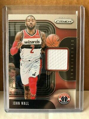 2019-20 Panini Prizm Basketball John Wall Sensational Swatches Jersey Wizards