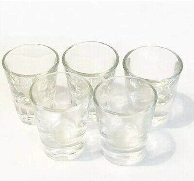 Six Assorted Vintage Libby Glass Collectible Shot Glasses