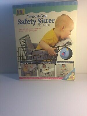 Vintage Two In One Safety Sitter Guard Baby Toddler Shopping Cart Seat Cushion