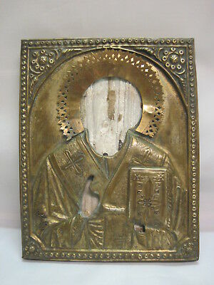 Antique Old Orthodox Icon. 19th century, Russia.