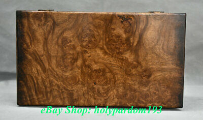"12"" Old Chinese Huanghuali Wood Dynasty palace Chest Box Casket Jewelry Cabinet"