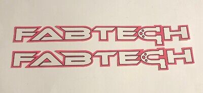 """2 FABTECH OFF ROAD RACING STICKERS DECALS 2X10"""" FREE SHIPPING offroad utv mint"""