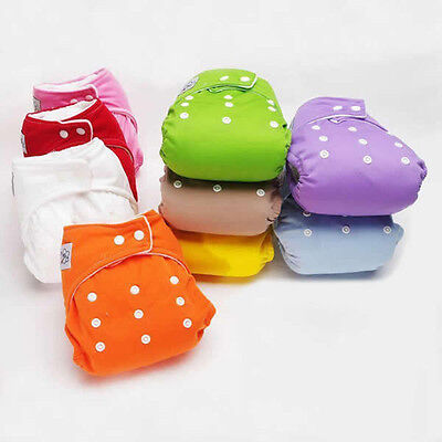Reusable Baby Infant Nappy Cloth Diaper Bag Soft Cover Washable Adjustable-