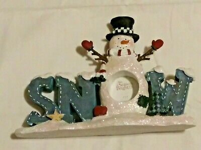 St Nicholas Kohl's Picture Frame Snowman Winter Holiday New Gift Glitter Snow