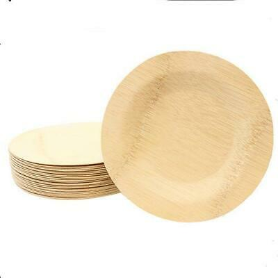 Tablecraft - BAMDRP7 - 7 in Disposable Round Bamboo Plate