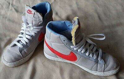Nike Blazer High Tops - Girls Grey Trainers Size UK 4.5 US 5Y EU 37.5 574270-001