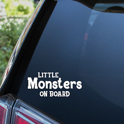 Little Monsters On Board Sticker Baby Babies Child Children Car Decal