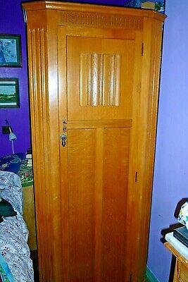 Antique 1920's oak single wardrobe