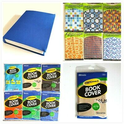 """Stretchable Standard Book Covers 8""""x10"""" Assorted Colors Reuseable Washable"""