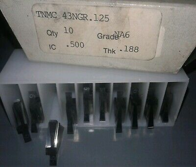 10 Pc. North American Carbide Tnmc 43 Ngr 125 Grade Na6