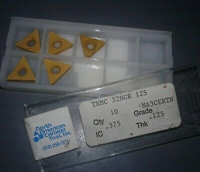 5 PC. NORTH AMERICAN CARBIDE TNMC 32NGR 125 GRADE NA3CERTN. Our#2