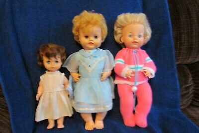 Three Vintage Reliable Toy Company Dolls - Canadian Made