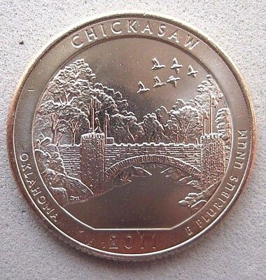 "Usa  B/Unc  ""America The Beautiful""  Quarter   2011  "" Chickasaw "" D Mint"