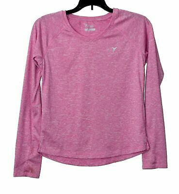 OLD NAVY ACTIVE Girls Pullover Top Size XL 14 Pink Long Sleeve Athletic Shirt