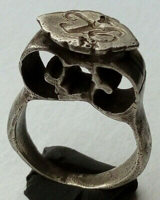 Masive And Decorated Silver Byzantine Ring