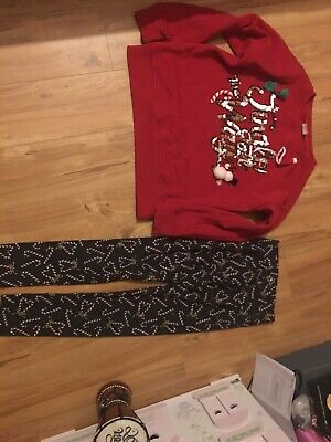 Zara Christmas Girls Legging Set Age 11/12