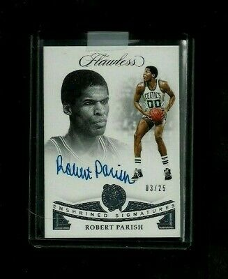 Robert Parish Flawless ENSHRINED SIGNATURES Auto #/25! ON-CARD! Celtics LEGEND!